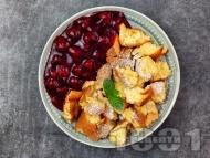 Рецепта Сладкиш Кайзершмарен - австрийска императорска палачинка със сладко от вишни или череши